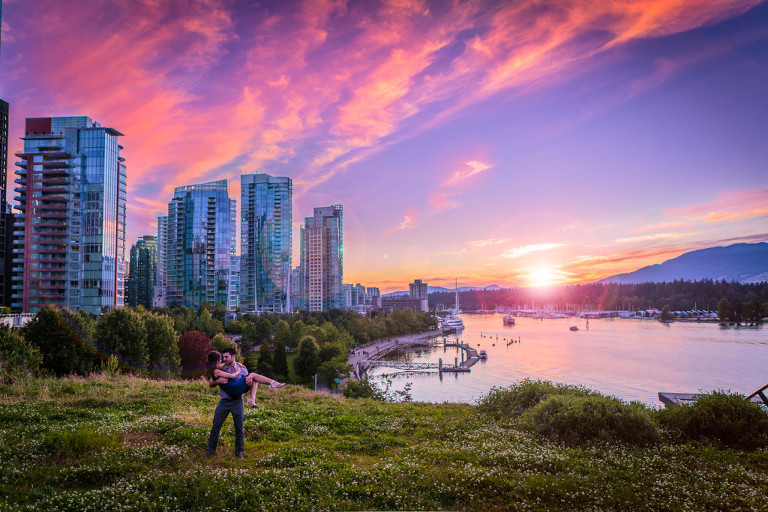 Vancouver bc Engagement and wedding photo
